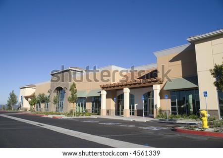 New Strip Mall - stock photo