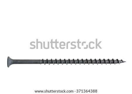 new strong Screw, isolated on white background