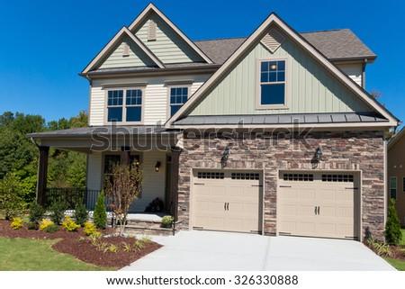 New suburban house - stock photo