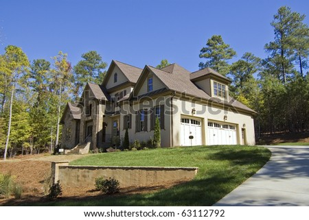 New suburban house for sale - stock photo