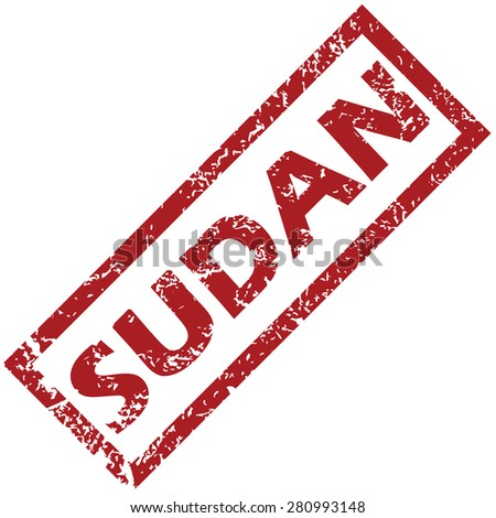New Sudan grunge rubber stamp on a white background