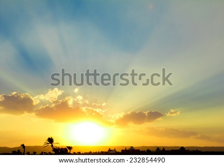 New Sun is Rising  - stock photo