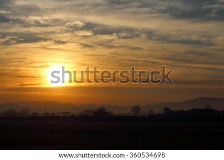 New Sun is Rising - stock photo