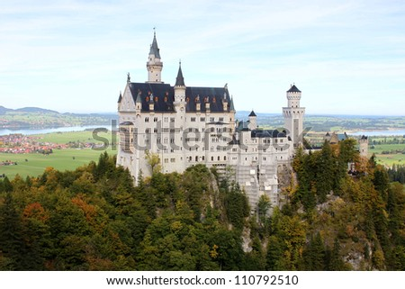 New Swan Stone Castle Schloss Neus - stock photo