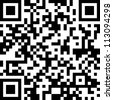 "New technology barcode called QR Code. This example of code literally translates as the following text: ""This is a QR Code, a modern two-dimensional bar code."". - stock photo"