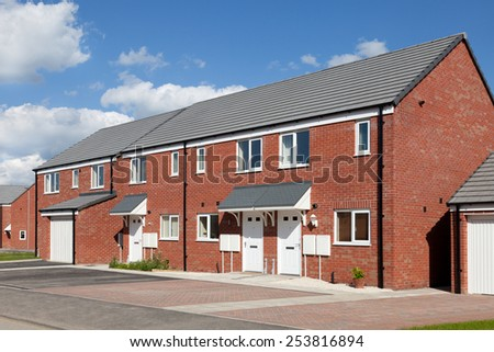 New terraced house  - stock photo