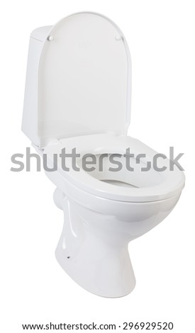 new toilet bowl on a white background isolated
