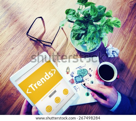 New Trends Future Business Growing Concept - stock photo