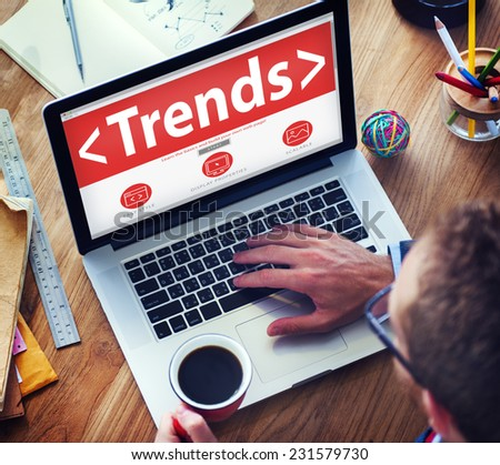 New Trends Future Bussiness Growing Concept - stock photo