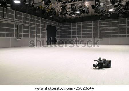 New TV studio. - stock photo