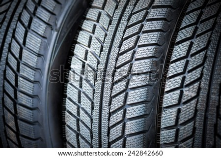 new tyres - stock photo