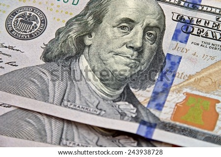 New version one hundred US Dollars. - stock photo
