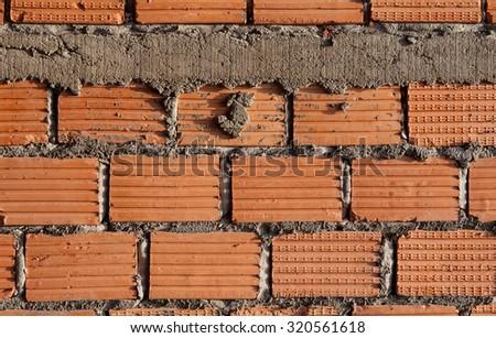 New wall bricks  - stock photo