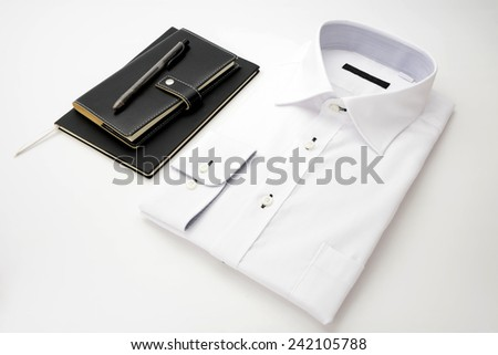 New white shirt and personal organaizer