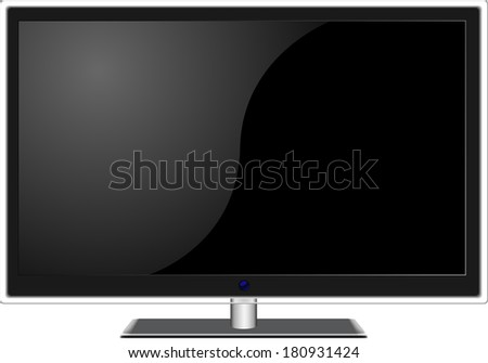 New widescreen TV set in elegant glass design  isolated on white background. For eps file look for id:30999571 - stock photo