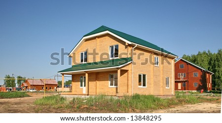 New wooden house