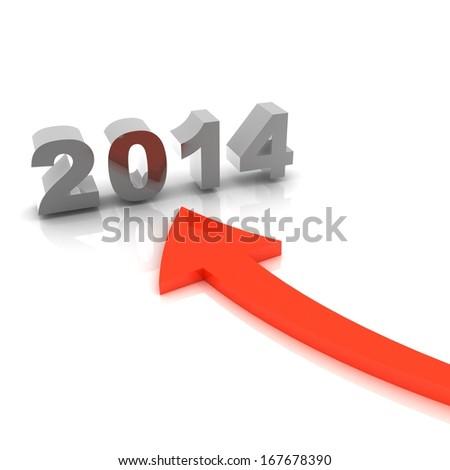 New year 2014 - stock photo