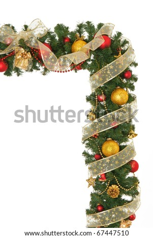 New Year and Christmas border design. - stock photo