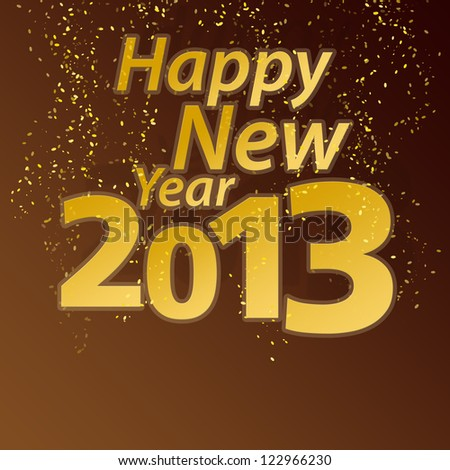 new year 2013 and confetti with copy space, Christmas - stock photo