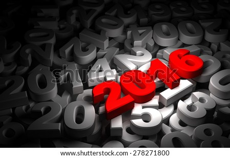 New Year 2016 and Olds - stock photo