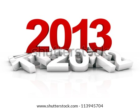 new year 2013 and other years - stock photo