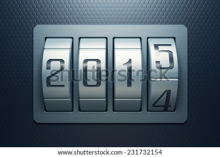 new year 2015 are coming - stock photo