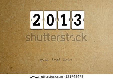 New Year arrival 2013 - stock photo