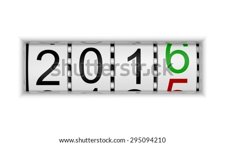 New Year 2016 b - stock photo