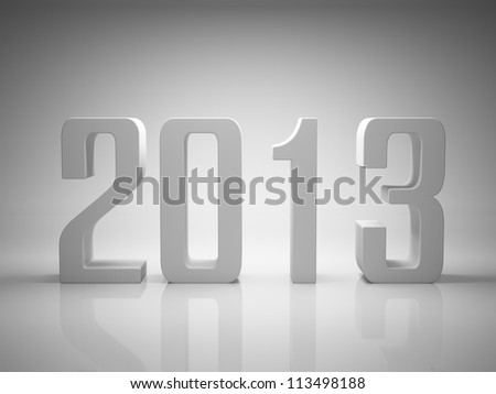 New Year 2013 background - stock photo