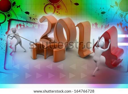 New 2014 year background. - stock photo