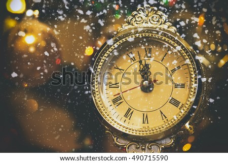 New Year background, greeting card