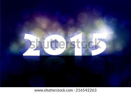 New year 2015 background illustration with back light and place for your text.