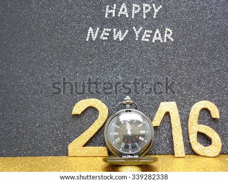 New year background with antique clock 2016 Holidays