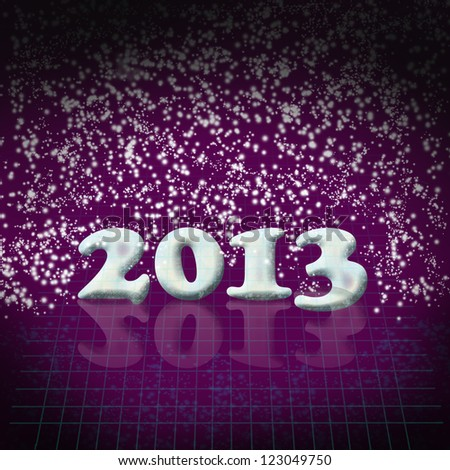 New Year 2013 background with dark purple colors