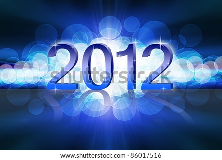 New year 2012 blue background