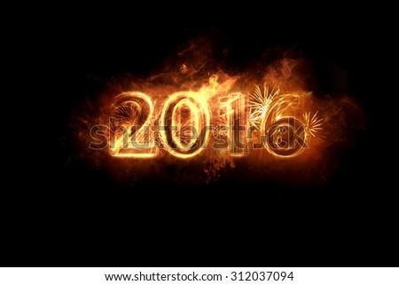 new year - burning - stock photo