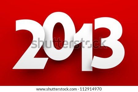 New Year 2013 card - stock photo