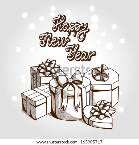 New year card concept. Holiday background with greeting text