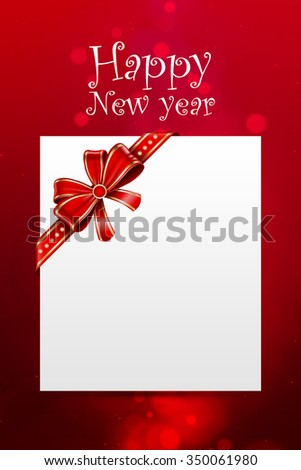 new year card / new year Greeting Card / new year background / card - stock photo
