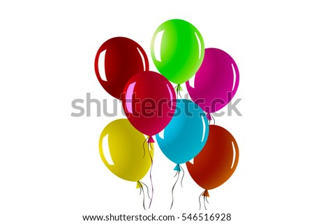 new year card text 2017 design balloons greeting celebration on white background