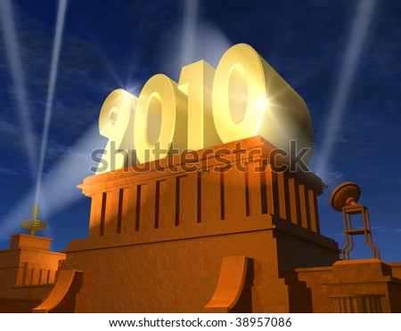 New Year 2010 celebration - stock photo
