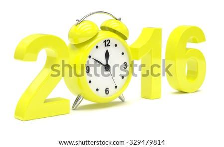 New year 2016 concept - stock photo