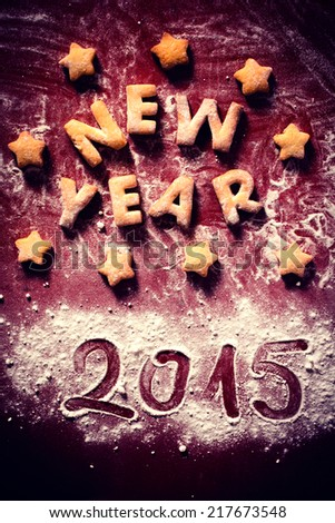 New Year cookies as the background  - stock photo