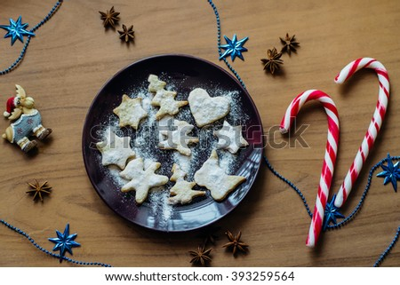 New Year cookies Plate