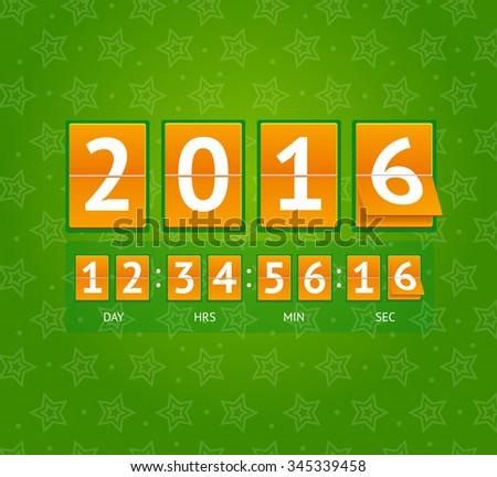 New Year Countdown on Orange Boards. illustration - stock photo
