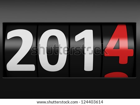 new year 2014 counter - stock photo