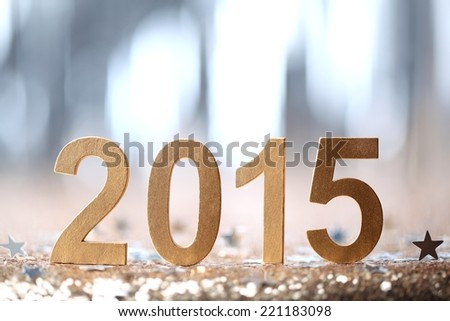 New year decoration,2015. - stock photo