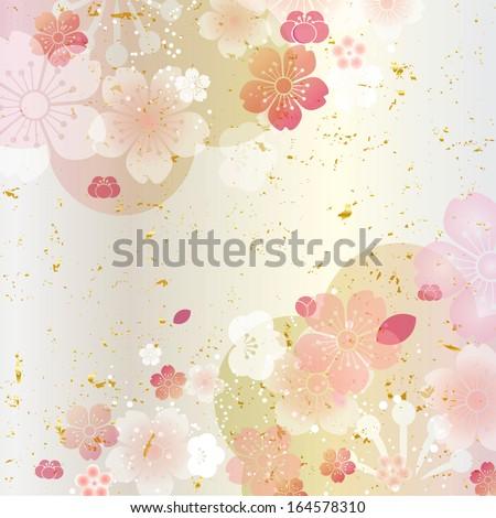 New Year Decoration Japan Plum Cherry tree  - stock photo