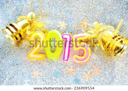 New year decoration on 2015. - stock photo