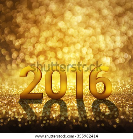 New year decoration with 2016. copy space. - stock photo